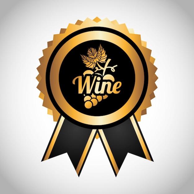 Beste wijnetiket Gratis Vector