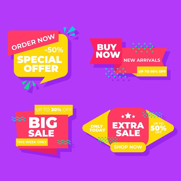 Bestel nu speciale collectie verkoopbanners Gratis Vector