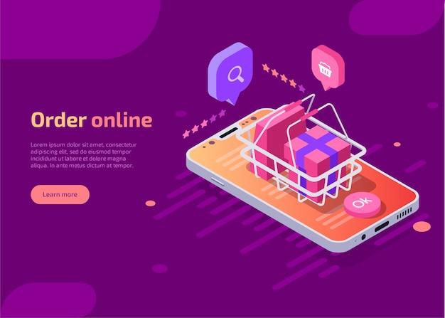 Bestel online shopping concept. Gratis Vector