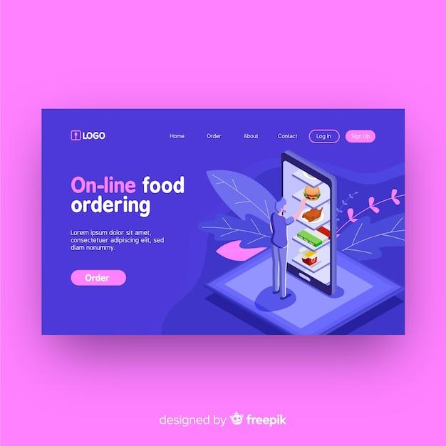 Bestellingspagina voor eten bestellen Gratis Vector