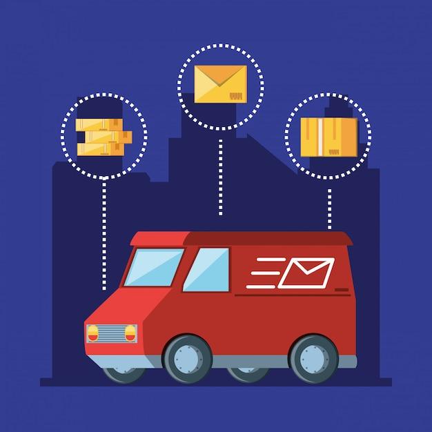 Bestelwagen logistieke service Premium Vector