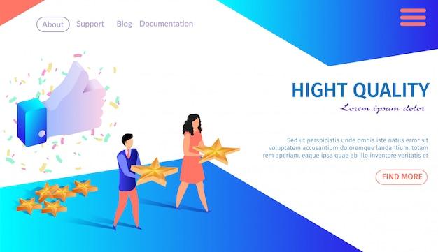 Bestemmingspagina websjabloon hoge kwaliteit Premium Vector