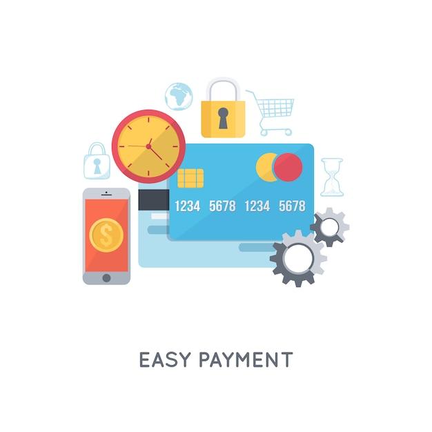 Betalingen en bankzaken Gratis Vector