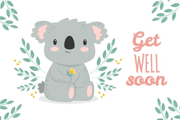 Beterschap illustratie met koala Gratis Vector