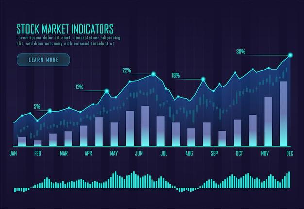 Beurs infographic Premium Vector