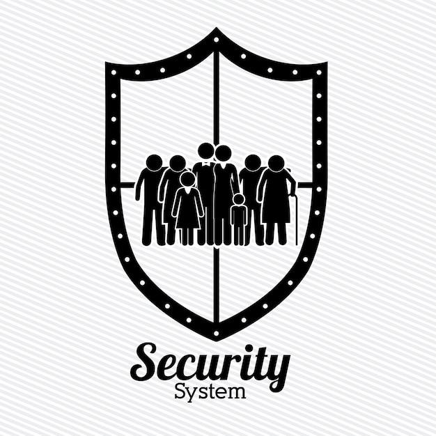 Beveiliging ontwerp Premium Vector
