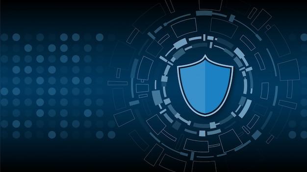 Beveiliging van cybertechnologie Premium Vector