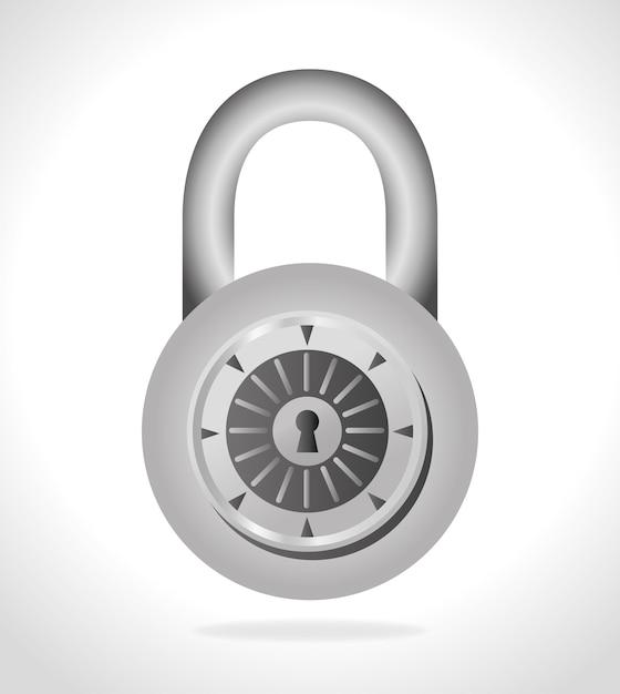 Beveiligingssysteem ontwerp. Premium Vector