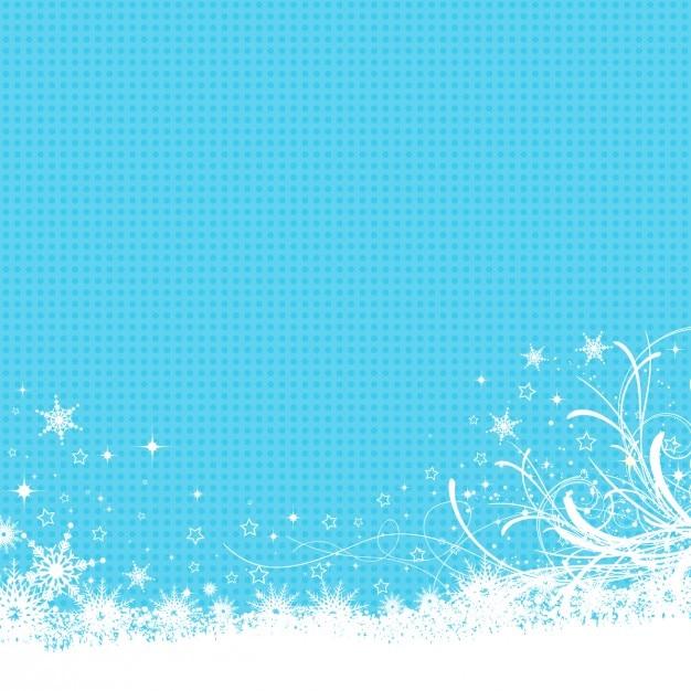Bevroren achtergrond in blauwe kleur Gratis Vector