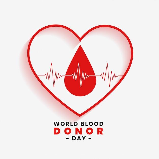 Bewaar bloedconcept voor wereldbloeddonordag Gratis Vector