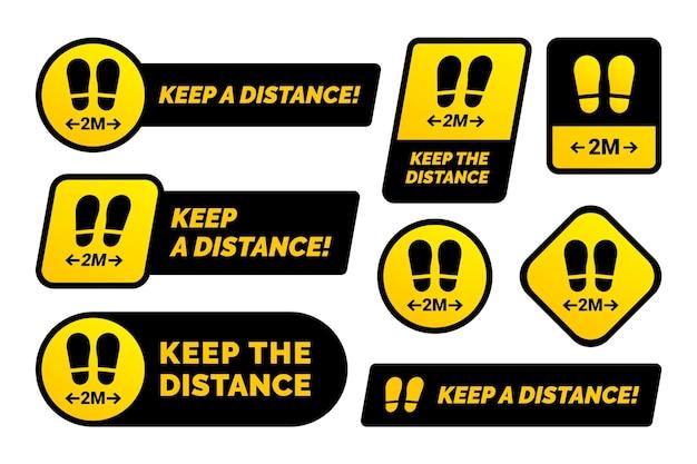 Bewaar uw verzameling afstandsborden Gratis Vector
