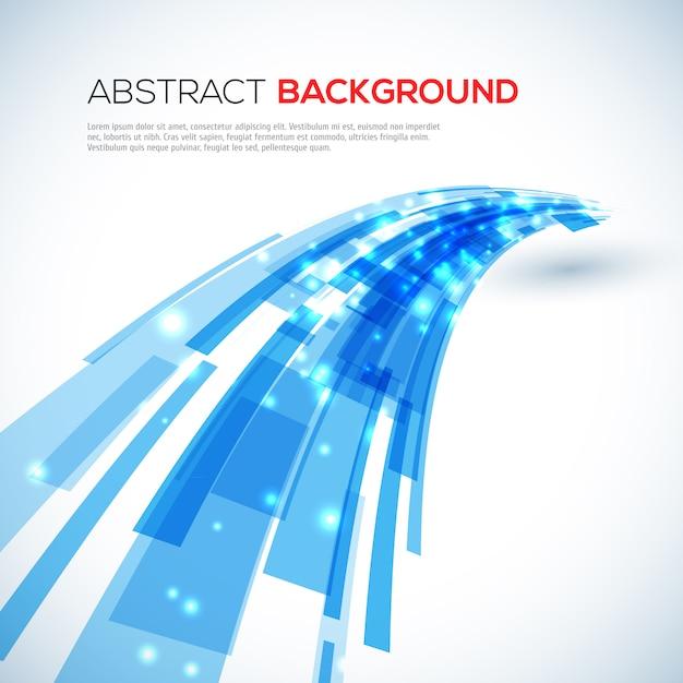 Bewegende blauwe abstracte achtergrond Premium Vector