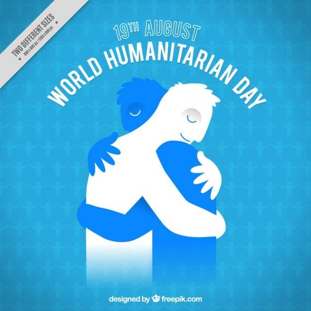 Bewegende humanitaire dag achtergrond Gratis Vector