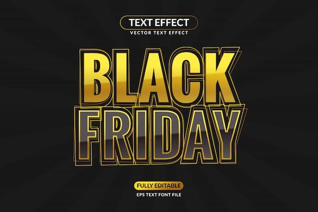 Bewerkbaar gold black friday-teksteffect Premium Vector