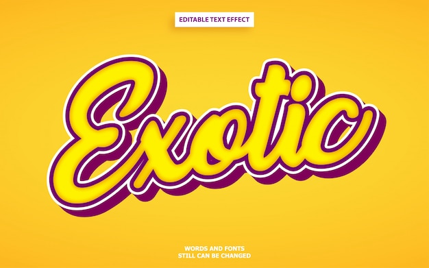 Bewerkbaar lettertype-effect van lettersoortstijl Premium Vector