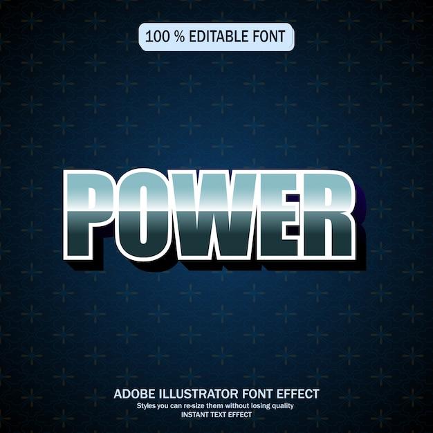 Bewerkbaar lettertype-effect Premium Vector