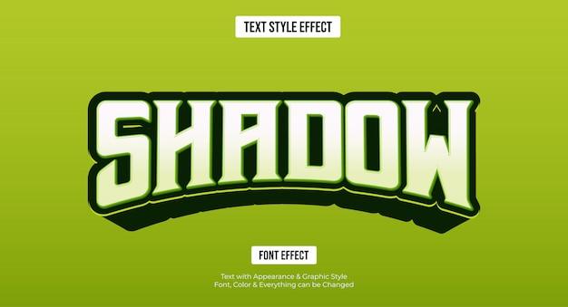 Bewerkbaar teksteffect - groene gaming e-sportstijl Premium Vector