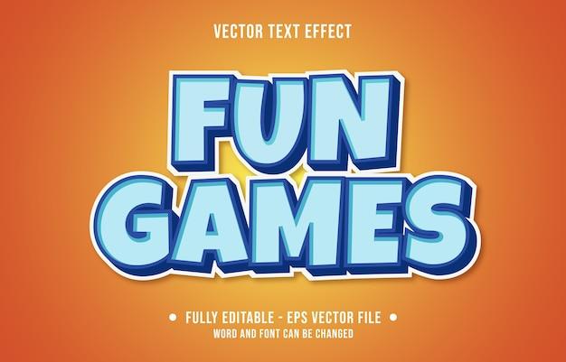 Bewerkbaar teksteffect leuke games moderne stijl Premium Vector