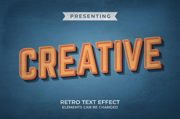 Bewerkbaar teksteffect met retro-oude lookstijl Premium Vector