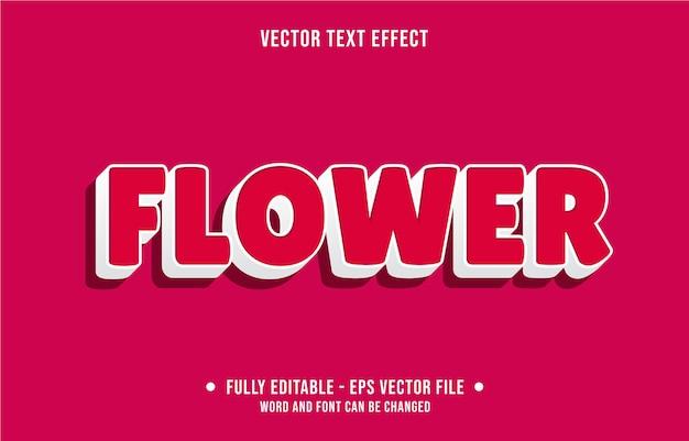 Bewerkbaar teksteffect moderne bloemstijl Premium Vector