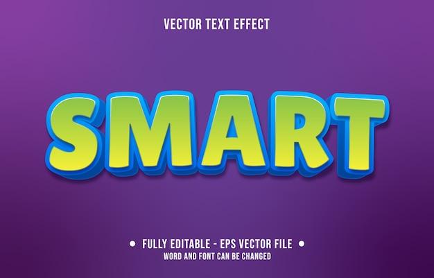 Bewerkbaar teksteffect moderne slimme groene stijl Premium Vector