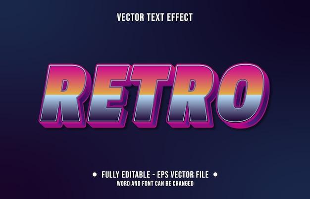 Bewerkbaar teksteffect retro tachtig stijl Premium Vector