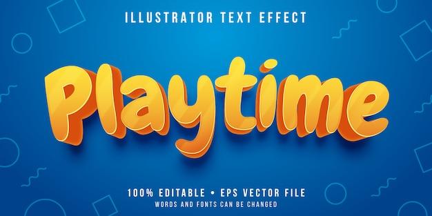 Bewerkbaar teksteffect - speelse tekststijl Premium Vector
