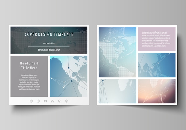 Bewerkbare lay-out Premium Vector