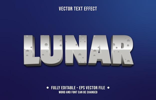 Bewerkbare teksteffect maanstijl Premium Vector