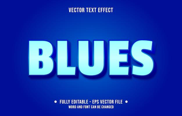 Bewerkbare teksteffect moderne blauwe stijl Premium Vector