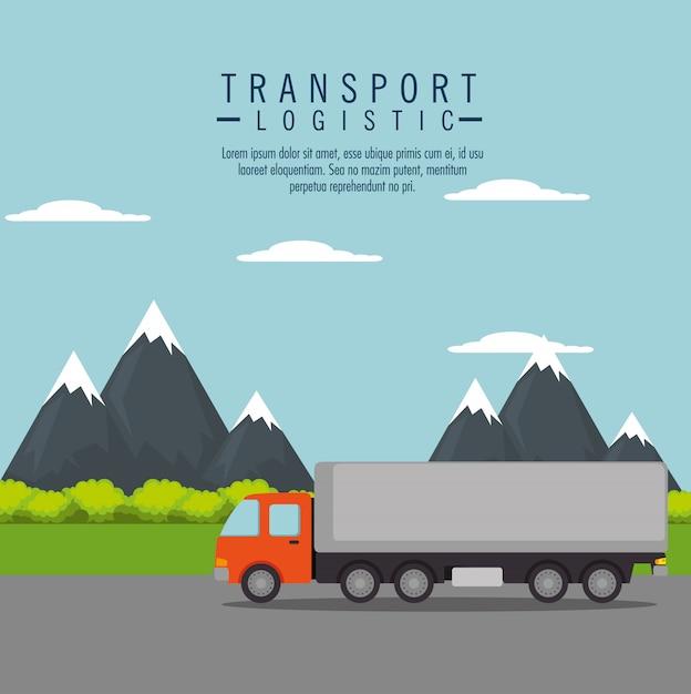 Bezorgservice vrachtwagen geïsoleerd Gratis Vector