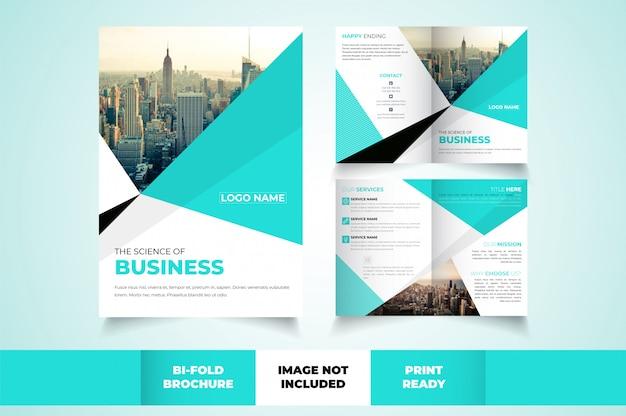 Bi-voudige brochure sjabloon Premium Vector