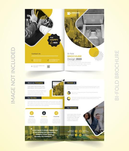 Bi-voudige brochure vactor Premium Vector