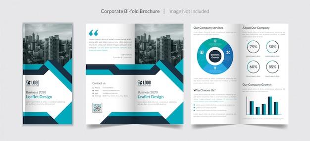 Bi-voudige brochure voor bedrijven Premium Vector