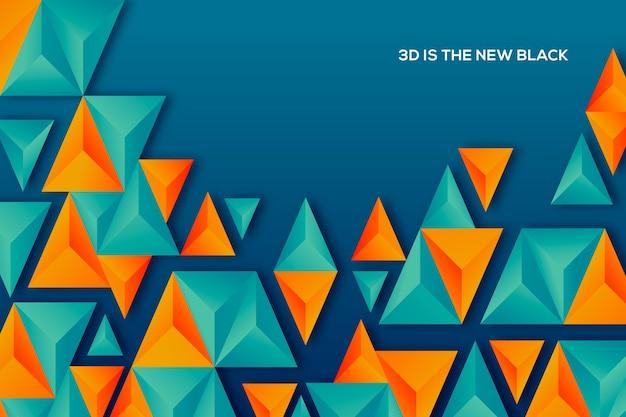 Bicolored 3d driehoeksachtergrond Gratis Vector