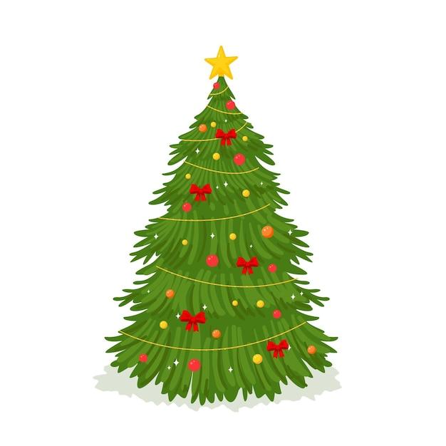 Bidimensionale kerstboom Gratis Vector
