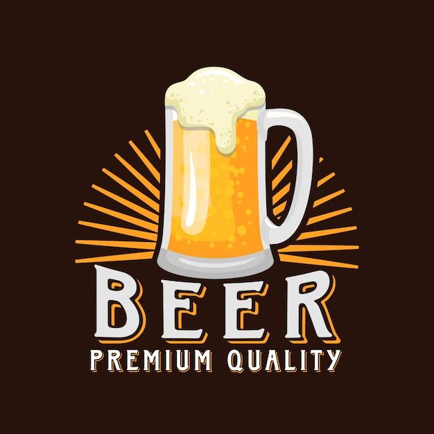 Bier logo vector illustratie Premium Vector