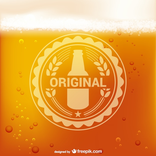 Bier logo vector Gratis Vector