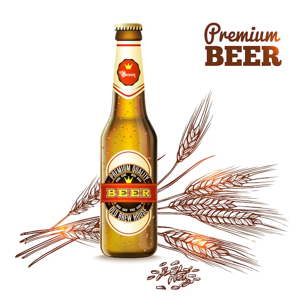 Bier schets concept Gratis Vector
