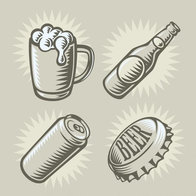 Bier thema illustratie Premium Vector