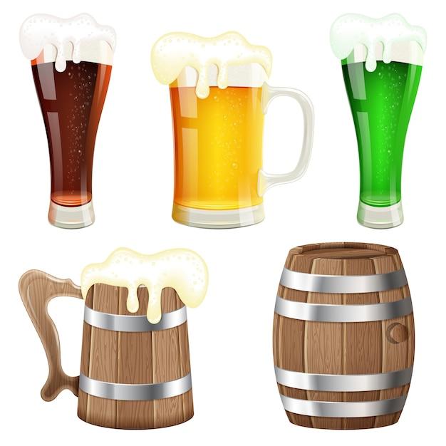 Bier verzameling Premium Vector