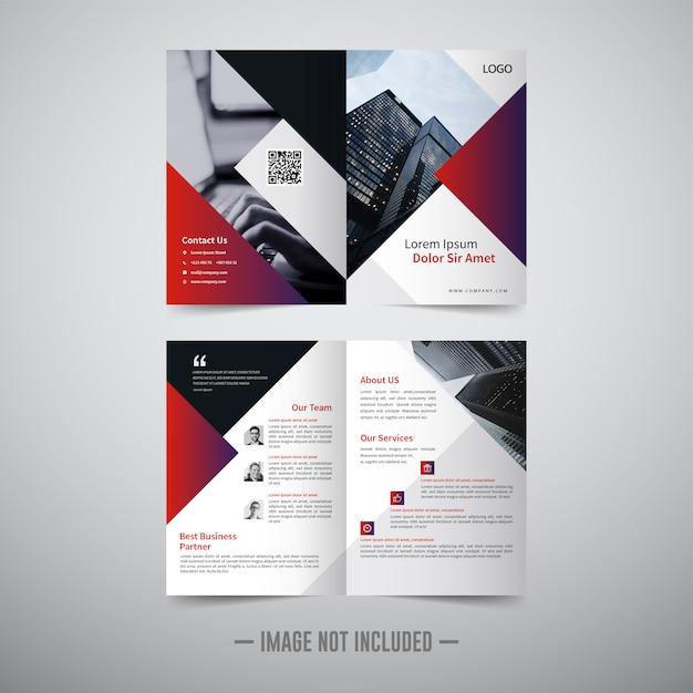Bifold brochure sjabloon Premium Vector