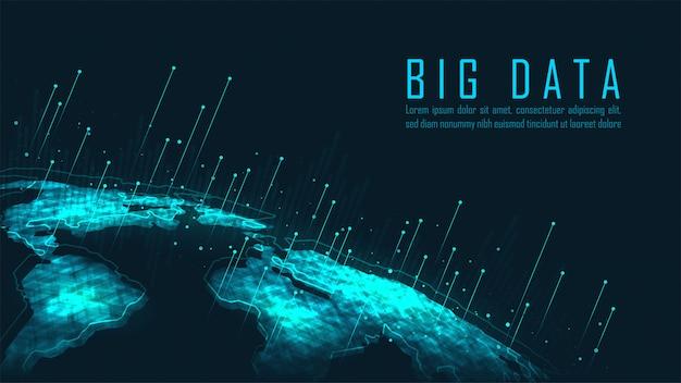 Big data-achtergrond Premium Vector