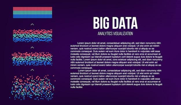 Big data analyse van informatie. Premium Vector
