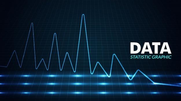Big data-analyse visualisatie achtergrond. Premium Vector