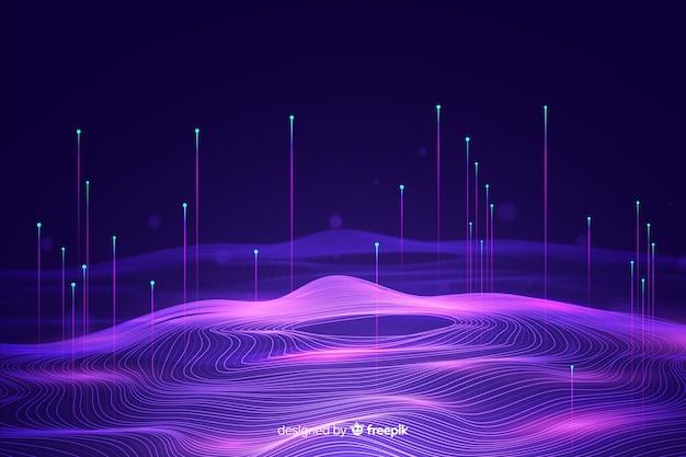 Big data concept achtergrond Gratis Vector