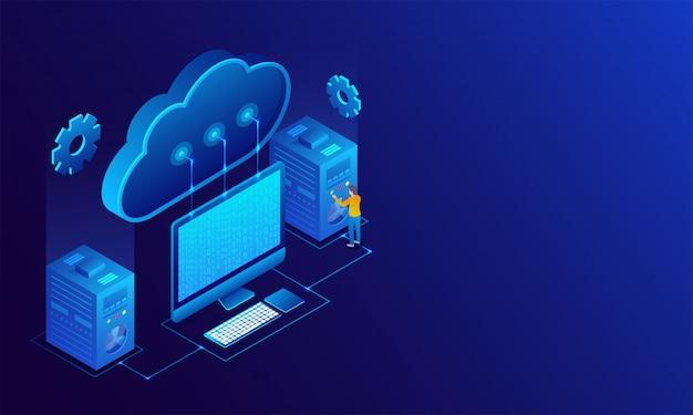 Big data-concept. Premium Vector