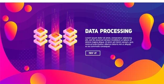 Big data - kleurrijke vloeistof Premium Vector