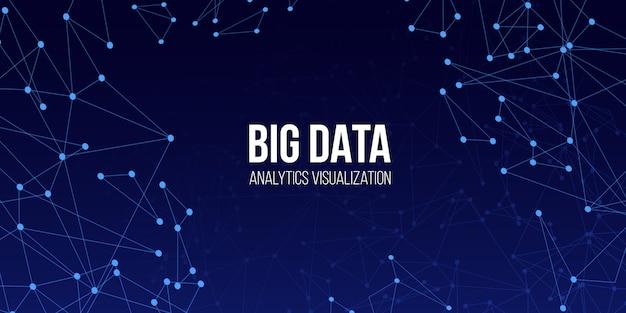 Big data technische achtergrond. Premium Vector