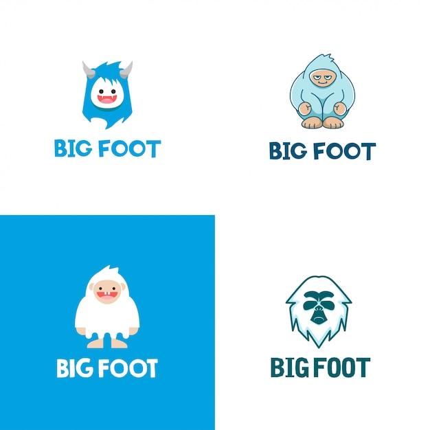 Big foot logo collection Premium Vector